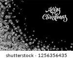christmas snowflake background... | Shutterstock .eps vector #1256356435