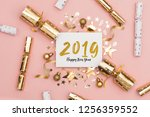 2019 happy new year party... | Shutterstock . vector #1256359552