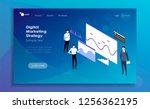 modern flat design isometric... | Shutterstock .eps vector #1256362195