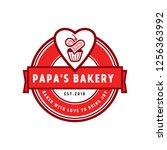 bakery vector logo | Shutterstock .eps vector #1256363992