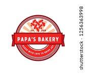 bakery vector logo | Shutterstock .eps vector #1256363998