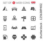 road vector icons for your... | Shutterstock .eps vector #1256389402