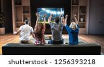group of students are watching... | Shutterstock . vector #1256393218