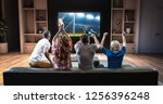 group of students are watching... | Shutterstock . vector #1256396248