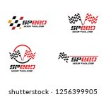 race flag icon  simple design... | Shutterstock .eps vector #1256399905