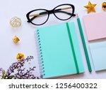 home office workspace mockup... | Shutterstock . vector #1256400322