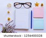 home office workspace mockup... | Shutterstock . vector #1256400328