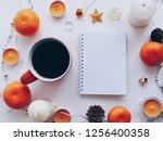 home office workspace mockup... | Shutterstock . vector #1256400358