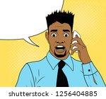 pop art african american...   Shutterstock .eps vector #1256404885