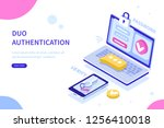 security authentication concept.... | Shutterstock .eps vector #1256410018