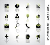 finance and business icons set | Shutterstock .eps vector #125641052