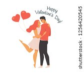 valentines day vector... | Shutterstock .eps vector #1256420545