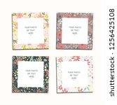 flower vector photo frames.... | Shutterstock .eps vector #1256425108