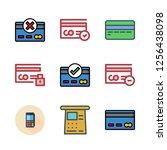 debit icon set. vector set...   Shutterstock .eps vector #1256438098