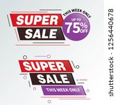 sale and special offer tag ... | Shutterstock .eps vector #1256440678