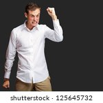 portrait of angry young man...   Shutterstock . vector #125645732