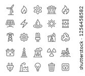 Energy Icons   Vector Line...