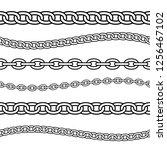 set of black isolated outline... | Shutterstock .eps vector #1256467102