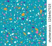 vector seamless terrazzo... | Shutterstock .eps vector #1256467525