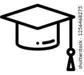 mortarboard graduation cap  | Shutterstock .eps vector #1256468275
