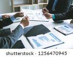 professional investor meeting... | Shutterstock . vector #1256470945
