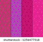 vertical seamless patterns set  ... | Shutterstock .eps vector #1256477518