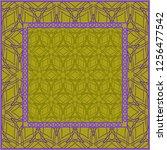 design print. the pattern of... | Shutterstock .eps vector #1256477542
