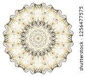 oriental mandala. vintage... | Shutterstock .eps vector #1256477575