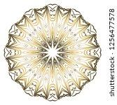mandala. for design  greeting... | Shutterstock .eps vector #1256477578