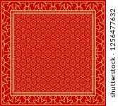 design of a scarf with a... | Shutterstock .eps vector #1256477632