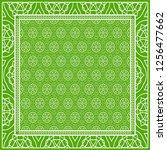 design print for kerchief. the... | Shutterstock .eps vector #1256477662