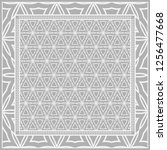 floral geometric pattern.... | Shutterstock .eps vector #1256477668
