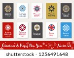 christmas and happy new year... | Shutterstock .eps vector #1256491648