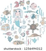 magical underwater world... | Shutterstock .eps vector #1256494312