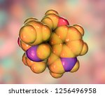 melatonin  a hormone produced... | Shutterstock . vector #1256496958