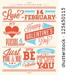 set of happy valentine's day... | Shutterstock .eps vector #125650115