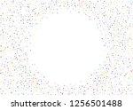 elegant pattern with polka dots ... | Shutterstock .eps vector #1256501488