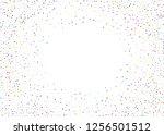 elegant pattern with polka dots ... | Shutterstock .eps vector #1256501512