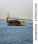 CVN 69 USS Dwight D. Eisenhower, Nimitz-class Aircraft Carrier, Port of Naples, Naples, Gulf of Naples, Campania, Italy