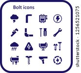 vector icons pack of 16 filled... | Shutterstock .eps vector #1256521075