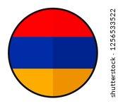 flag armenia   flat style... | Shutterstock .eps vector #1256533522