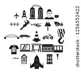 draft icons set. simple set of... | Shutterstock . vector #1256552422