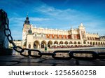 central market square in krakow ... | Shutterstock . vector #1256560258