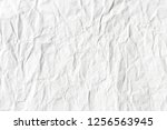 crumpled white paper texture | Shutterstock . vector #1256563945