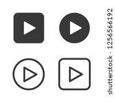 play vector icon set | Shutterstock .eps vector #1256566192