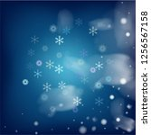 realistic snowfall vector on... | Shutterstock .eps vector #1256567158