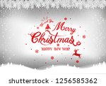 merry christmas and happy new... | Shutterstock .eps vector #1256585362