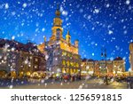 old town of poznan on a cold... | Shutterstock . vector #1256591815