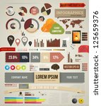 set elements of infographics... | Shutterstock .eps vector #125659376