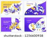 set isometric concept template... | Shutterstock .eps vector #1256600938